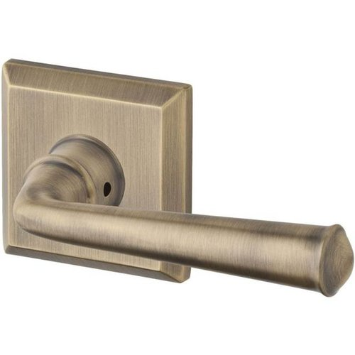 Baldwin Federal Double Dummy Door Lever with Traditional Square Rose