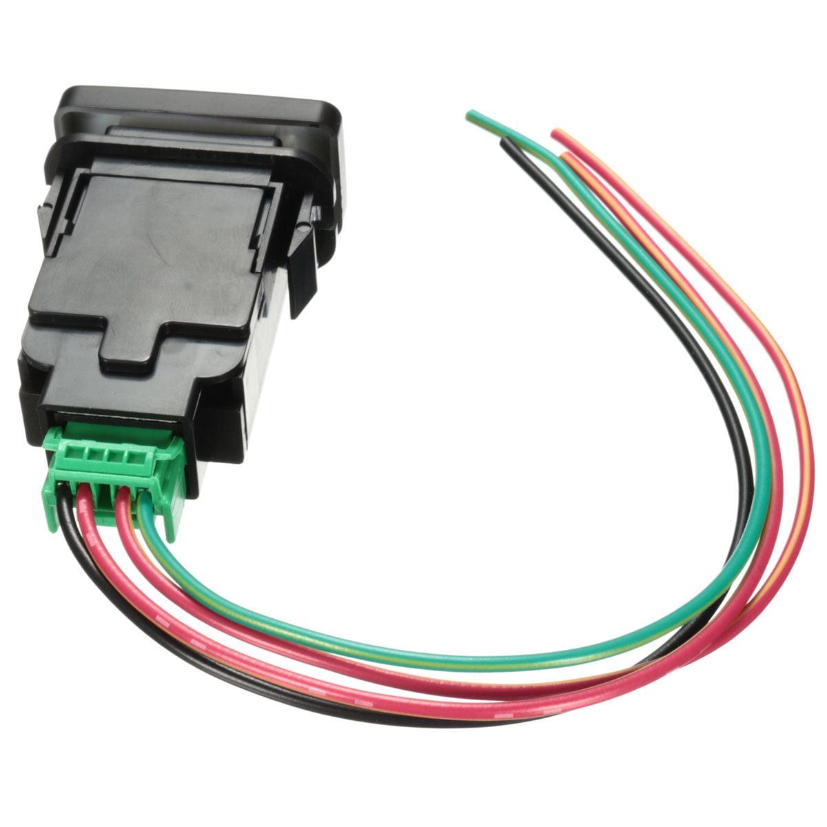 Led Push Button Switch On Off W Harness 12v Red For Landcruiser Wiring A Lamp Hilux Prado Fj Cruise Light Bar Fog Spot Driving Reverse Rear Matcc Usreverse