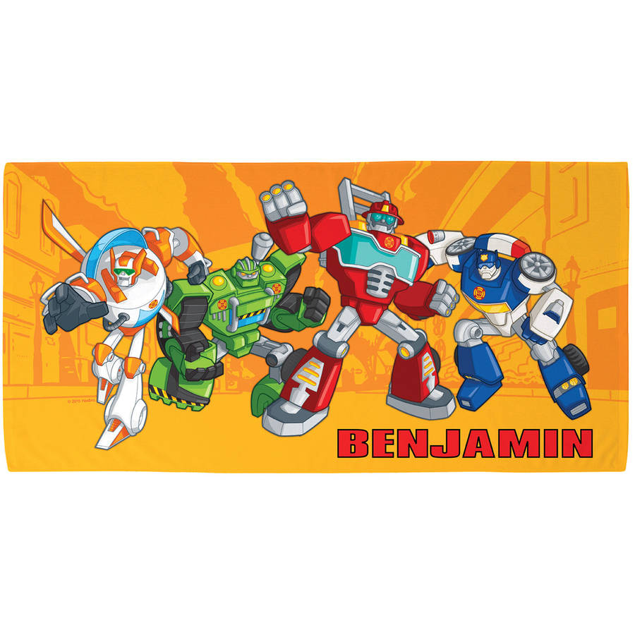 Personalized Transformers Rescue Bots Beach Towel