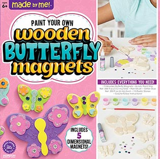 Made by Me Wooden Butterfly Magnets by Horizon Group USA