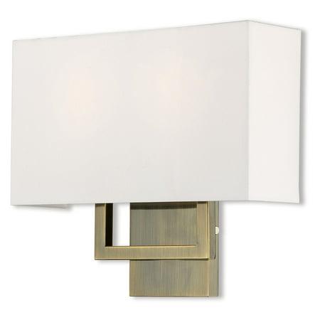 Livex Lighting Pierson 2 Light ADA Wall Sconce Flush Ada Sconce