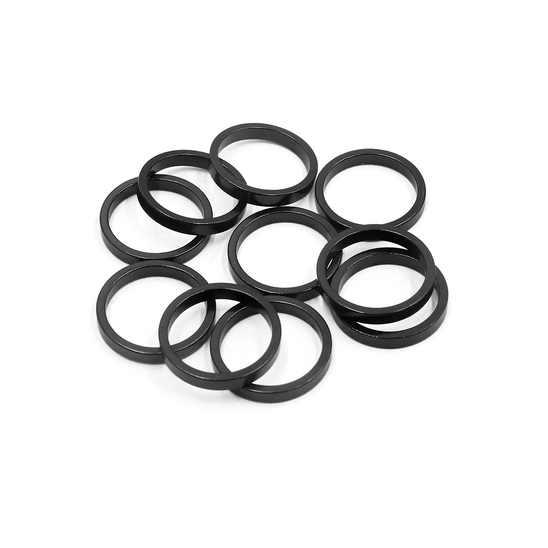 10Pcs Black Aluminum Alloy MTB Bike Bicycle Spacer Fork Stem Washer 28.6 x 5mm