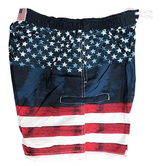 f376ba4929 Exist - Exist American Flag Men's Swim Trunks Boardshorts with Pockets (Flag,  Medium) - Walmart.com