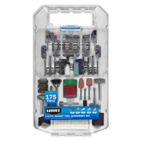 HART 175-Piece Rotary Tool Accessory Set with Protective Storage Case