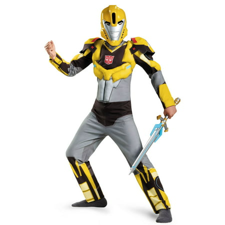 Transformers Robots in Disguise: Bumblebee Animated Muscle Child Costume](Transformer Costume Diy)
