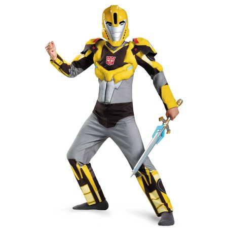 Transformers Robots in Disguise: Bumblebee Animated Muscle Child Costume - Bumblebee Costume Transforms Into Car
