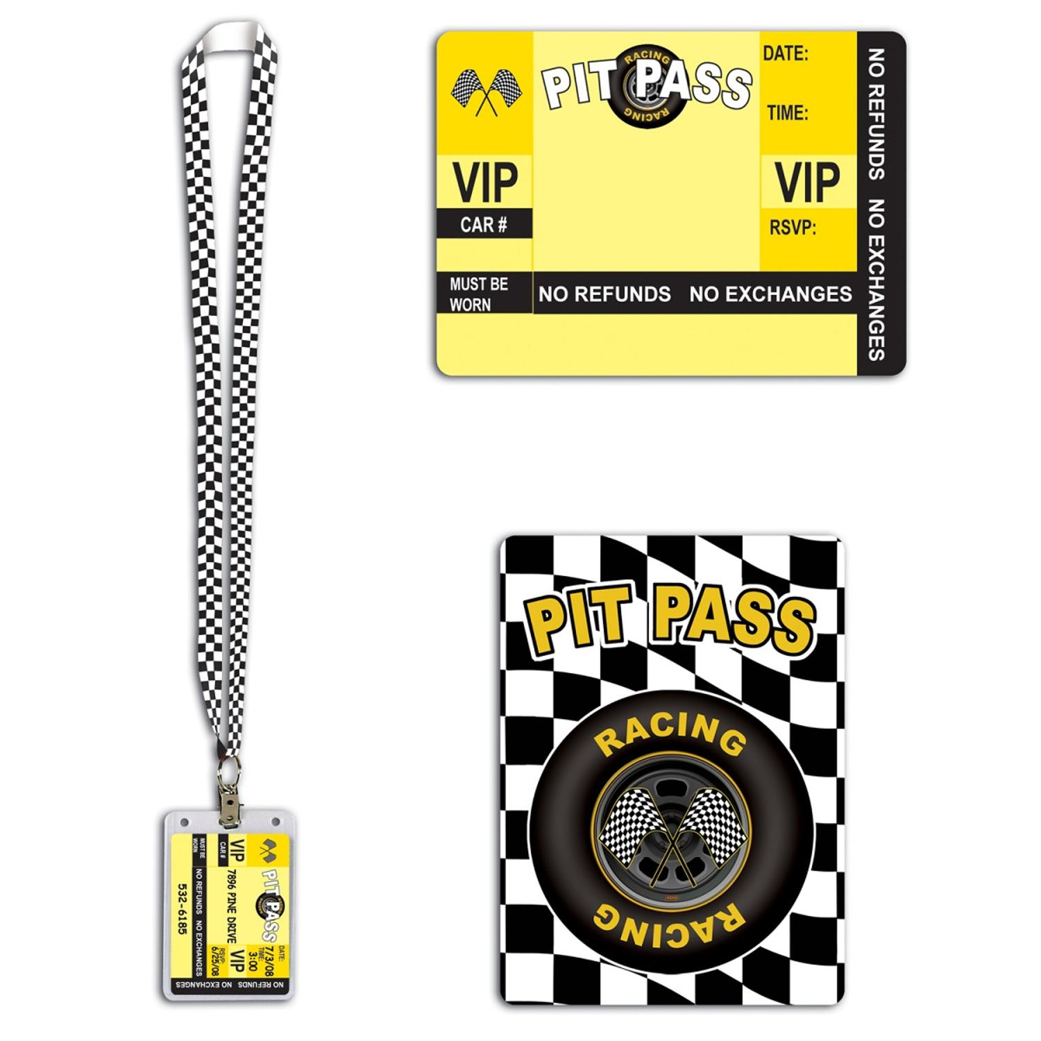 Club Pack of 12 Racing Pit Pass Lanyard with Card Holder ...