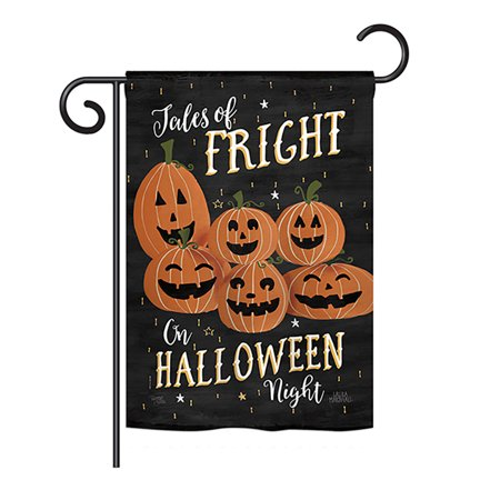 13 Nights Of Halloween Song (Breeze Decor - Fright on Halloween Night Fall - Seasonal Halloween Impressions Decorative Vertical Garden Flag 13