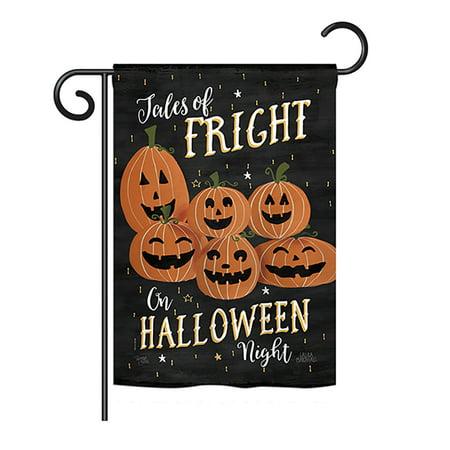 Breeze Decor - Fright on Halloween Night Fall - Seasonal Halloween Impressions Decorative Vertical Garden Flag 13