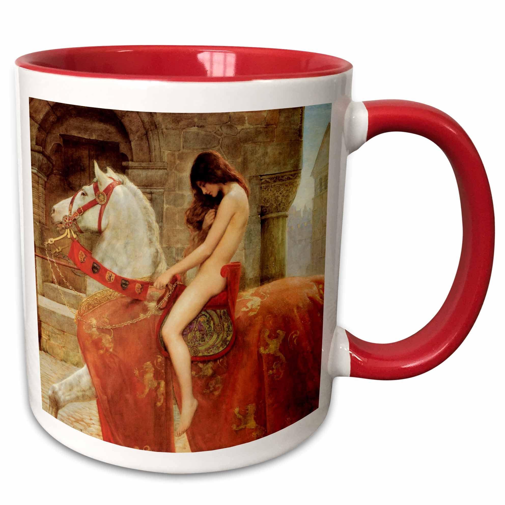 3drose Lady Godiva Vintage John Collier Two Tone Red Mug 11 Ounce Walmart Com Walmart Com