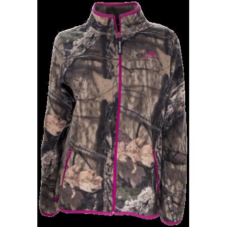 Mossy Oak Women's Fleece Camo Full Zip Jacket, MO Breakup