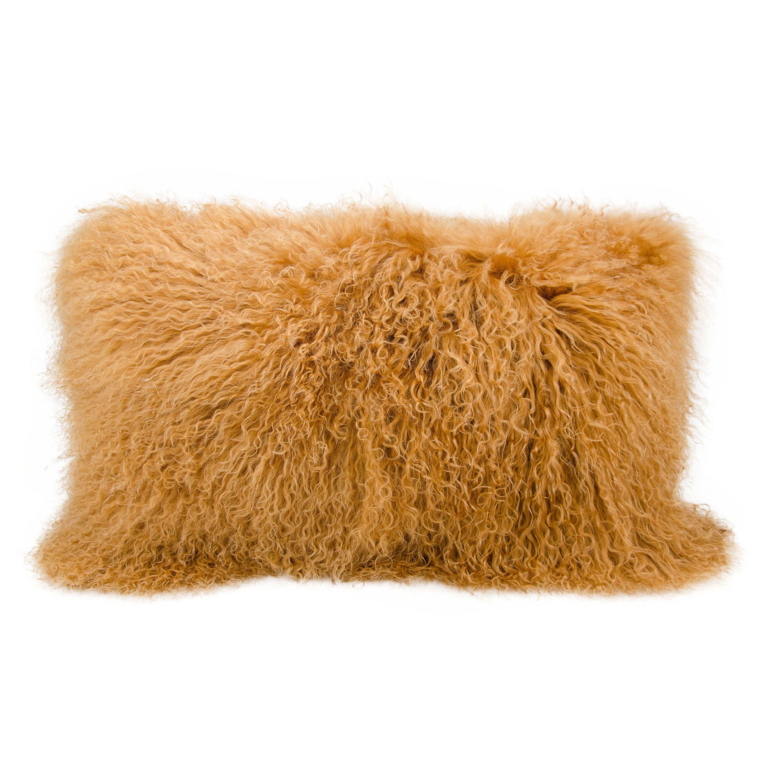 Nourison Couture Fur Tibetan Sheepskin Decorative Pillow