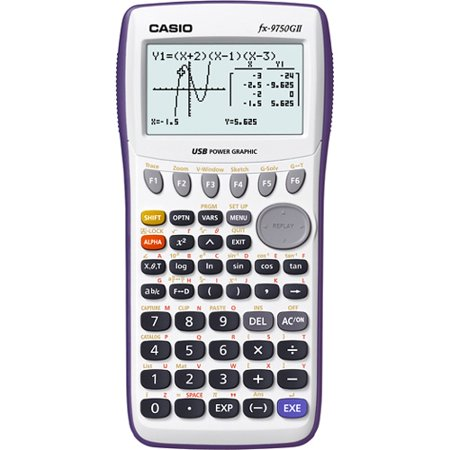 Casio Fx 9750Gii Graphing Calculator   26 Kb   Flash   8 Line S    21 Digits   Lcd   Battery Powered   0 9  X 3 6  X 7 2