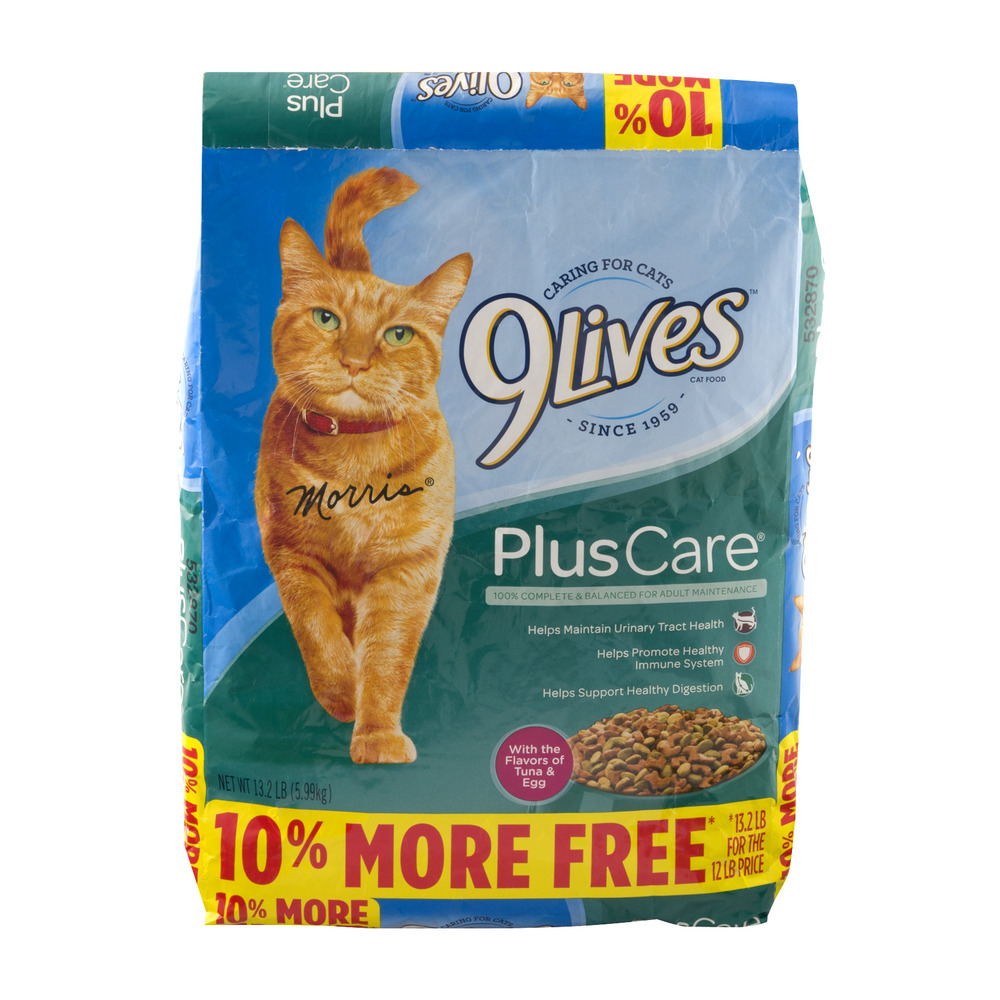 Image of 9 Lives Cat Food Plus Care, 13.2 lb