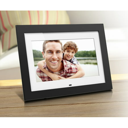 "Aluratek 10"" Digital Photo Frame with 4GB Built-In Memory with Matting (1024 x 600 resolution, 16:9 Aspect Ratio)"