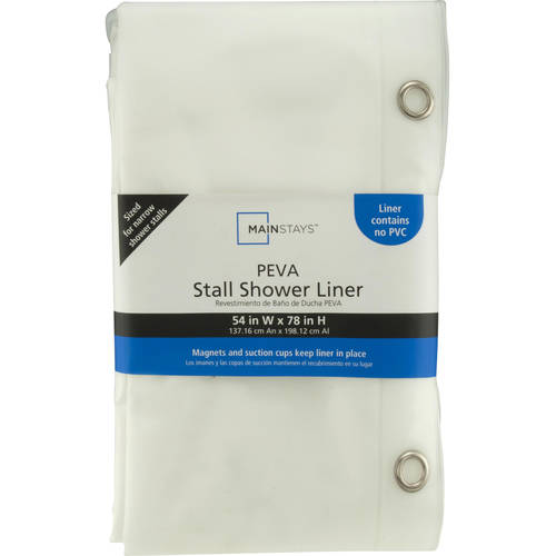 mainstays medium weight peva shower liner collection