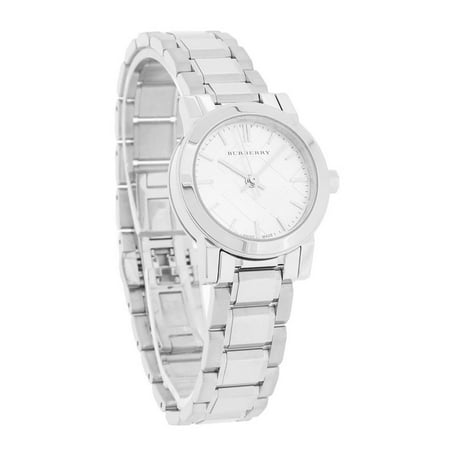 Burberry The City Ladies Silver Dial Stainless Steel Swiss Quartz Watch BU9200