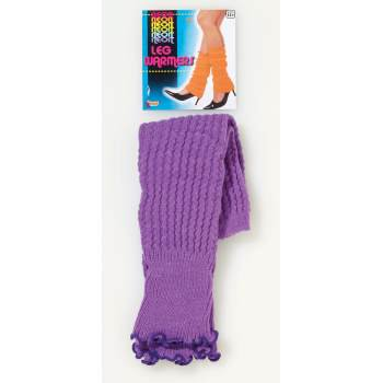 Neon Leg Warmers Purple 67794