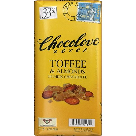 Chocolove Toffee & Almonds in Milk Chocolate, 3.2 Oz
