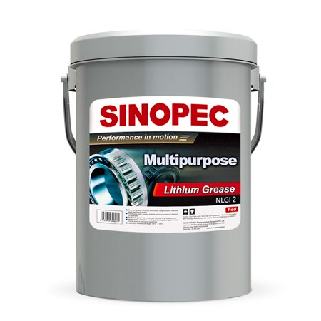 - Red Multipurpose Lithium Grease #2 - 35LB. (5 Gallon) Pail