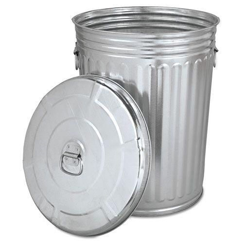 galvanized trash can pre galvanized trash can with lid steel 20gal 28544