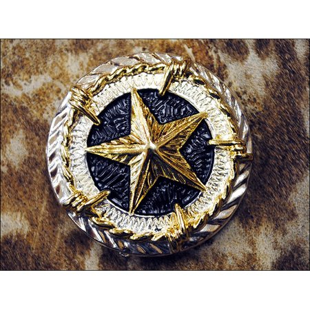 TEXAS STAR GOLD CONCHO SADDLE HEADSTALL TACK BLING COWGIRL