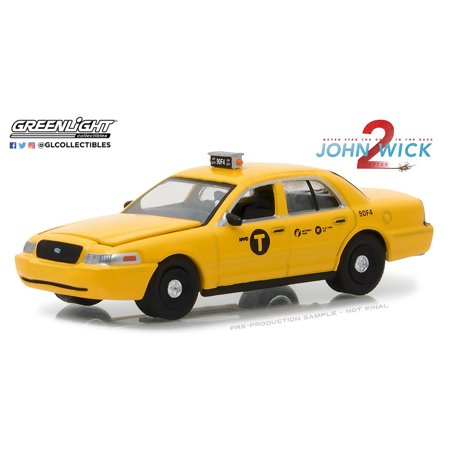 Greenlight 1:64 Hollywood Series 19 2008 Ford Crown Taxi John Wick Chapter 2 - Halloween Store North Hollywood