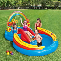 "Intex Rainbow Ring Inflatable Play Center with Sprayer, 117"" x 76"" x 53"""