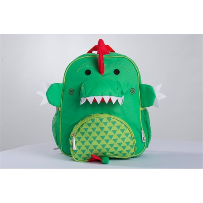 Zoocchini 28002 Devin the Dinosaur Kids Backpack, Green