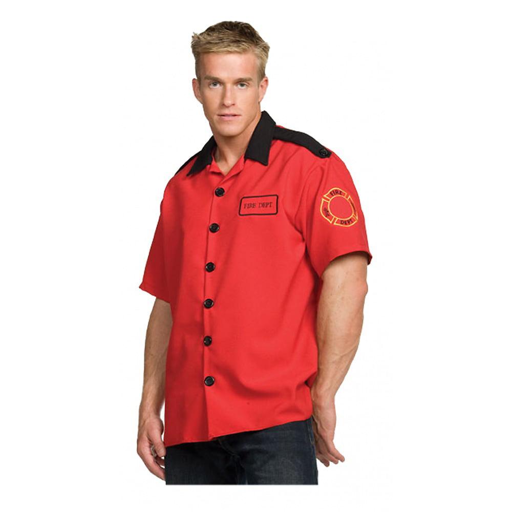 Fireman Shirt Adult Costume - One Size
