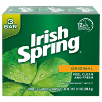 Irish Spring Original, Deodorant Bar Soap, 3.7 Ounce, 3 Bar Pack