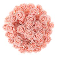 Artificial Roses with Stems- Real Touch Fake Flowers for Home Decor, Wedding, Bridal/Baby Shower, Centerpiece, More, 50 Pc Set by Pure Garden (Blush)
