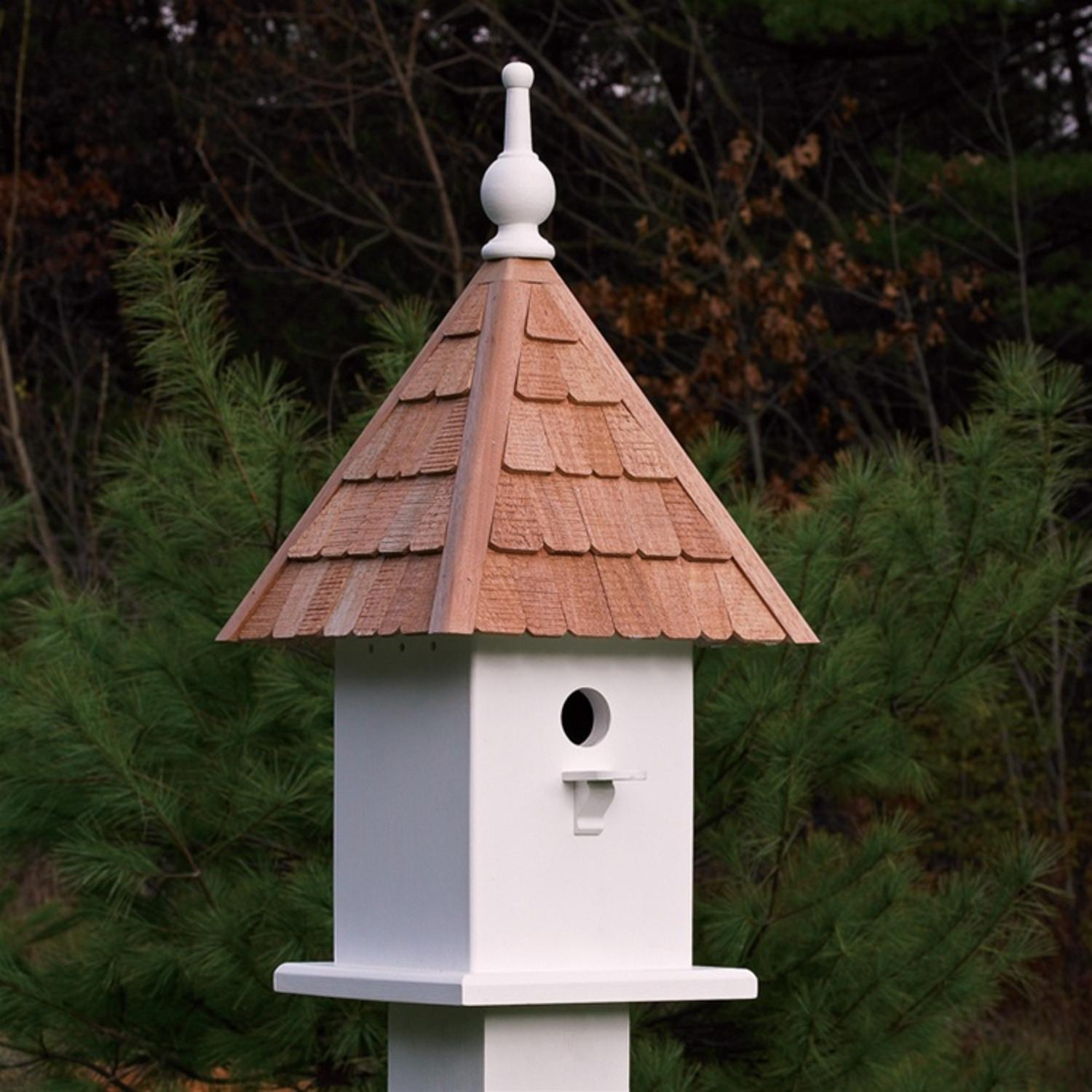"23"" Fully Functional White Classic Loretta Outdoor Garden Birdhouse"