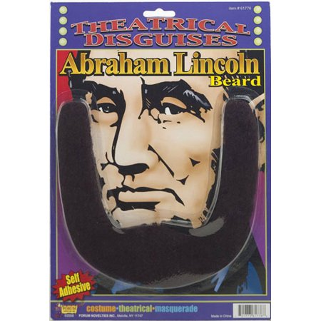 Patriotic Theatrical Disguises Self Adhesive Abraham Lincoln Beard