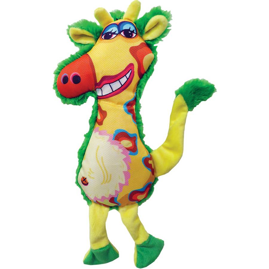 Plush Gina Giraffe Dog Toy, 13""