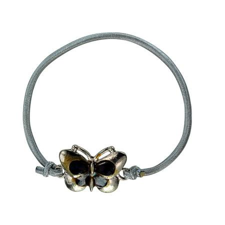 Silver Tone Metal Bracelet (Butterfly Charm Mood Change Silver Tone Bracelet)