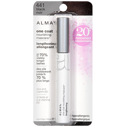 Almay One Coat Lengthening Mascara, 441 Black, 0.27 fl oz