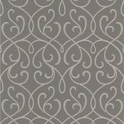 Brewster DL30447 Grey Alouette Grey Mod Swirl Wallpaper