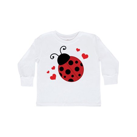 Lady Bug and Hearts Toddler Long Sleeve T-Shirt - Lady Bug Outfit