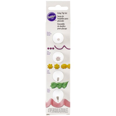 Wilton Open Star Tip (Wilton Decorating Tip Set, Nested Round, Star, Leaf & Petal 4 ct. )