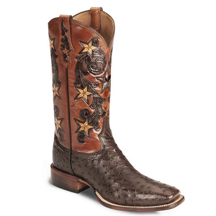 Tony Lama Mens Signature Full Quill Ostrich Cowboy Boot by