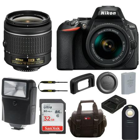 Nikon D5600 DSLR Camera w/ 18-55mm Lens & Sony 32GB Memory Card Bundle
