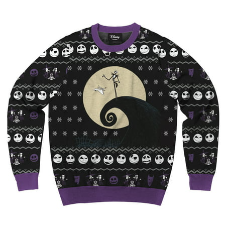 Men's Disney Nightmare Before Christmas Jack Faces Ugly Sweater Sweatshirt