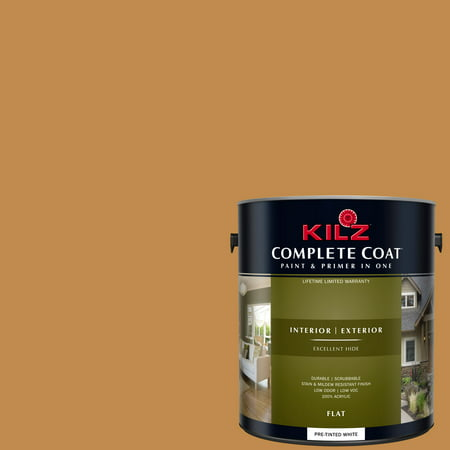 KILZ COMPLETE COAT Interior/Exterior Paint & Primer in One #LD120-01 Golden Sunrise