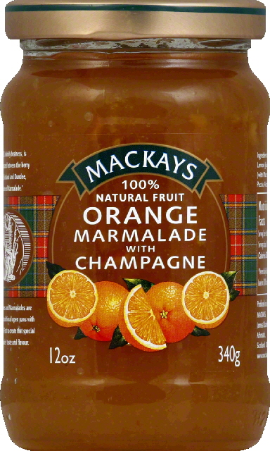 Mackays Orange Marmalade With Champagne, 12.0 OZ by International Foods Associates, Inc.