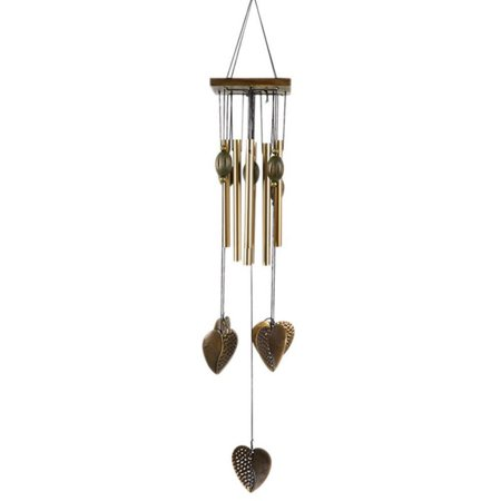 Cluxwal Wooden copper alloy wind chime Large Wind Chimes Outdoor Indoor, Garden Wind Chimes for Patio and Terrace](Wooden Chimes)