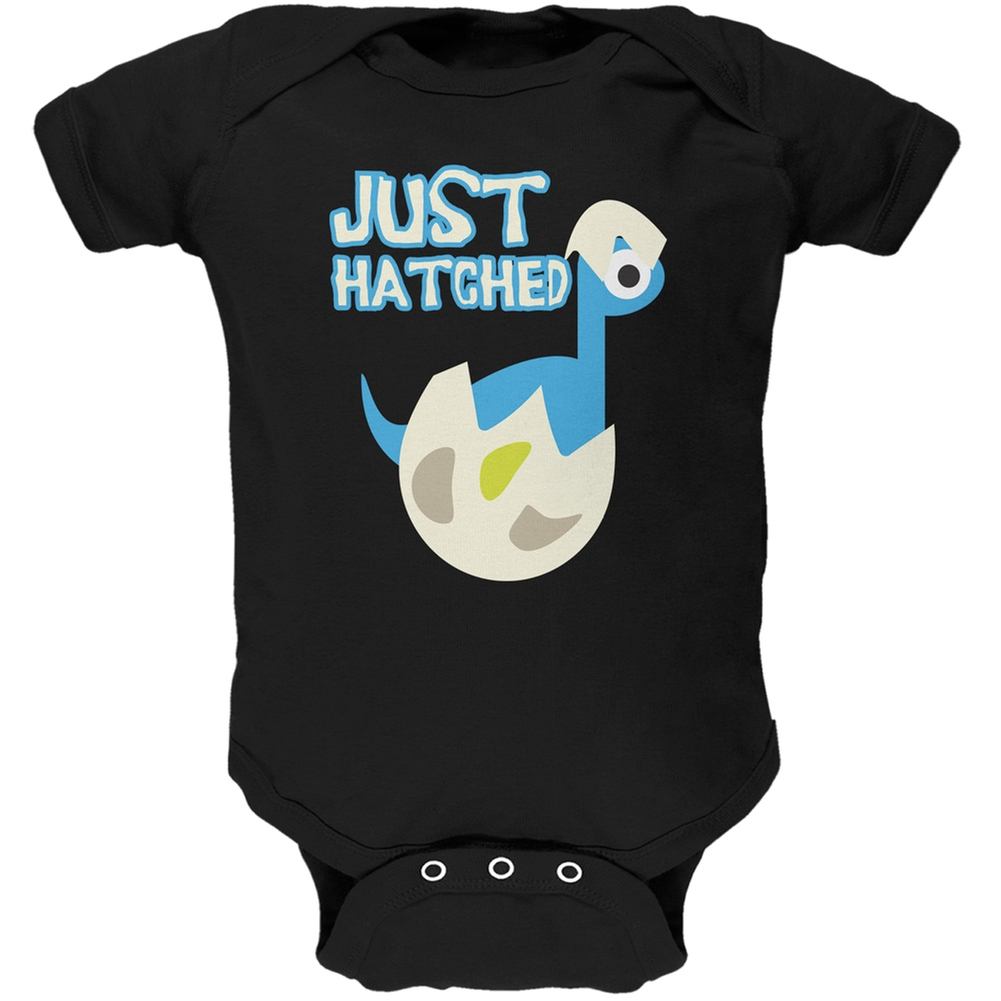 Just Hatched Baby Boy Black Soft Baby One Piece
