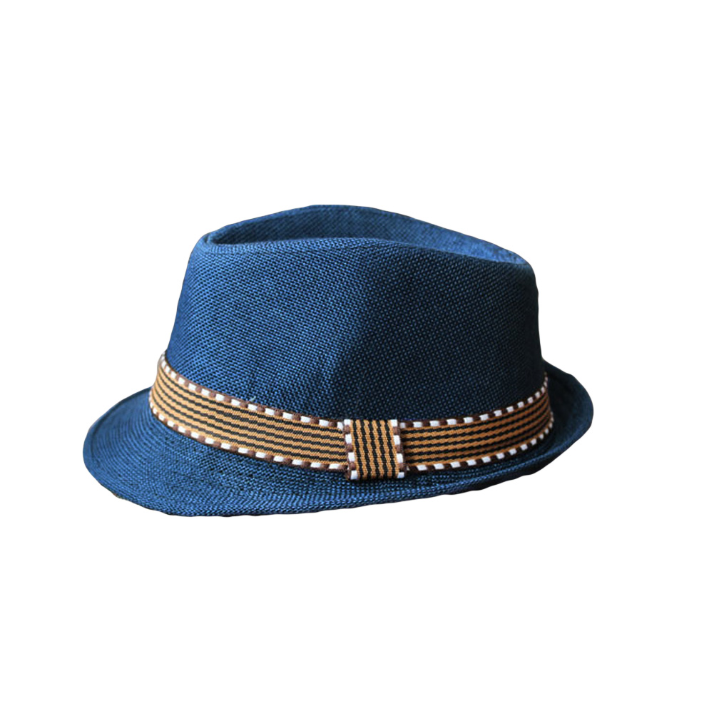 US Baby Boys Girl Toddler Kid Cap Fedora Hat Jazz Cap Photography Cotton Trilby