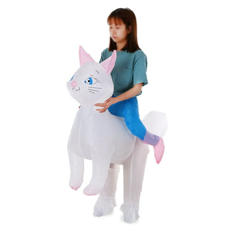 Cat Props Blow Up Inflatable Fancy Dress for Cosplay Party Stage Performance for Kids Children
