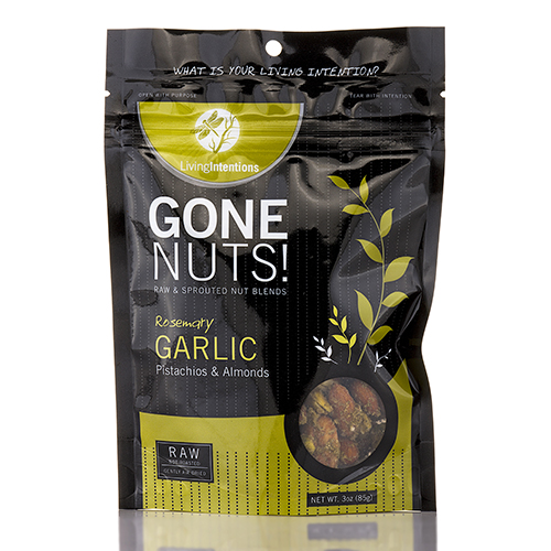 Gone Nuts! - Rosemary Garlic Pistachios & Almonds - 3 oz (85 Grams) by Living In